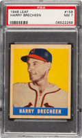 Baseball Cards:Singles (1940-1949), 1948 Leaf Harry Brecheen #158 PSA NM 7 - Only One Higher....