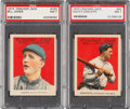 Baseball Cards:Lots, 1915 Cracker Jack PSA NM 7 Graded Pair (2)....