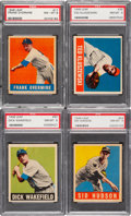 Baseball Cards:Singles (1940-1949), 1948 Leaf Baseball PSA NM-MT 8 Collection (4). ...