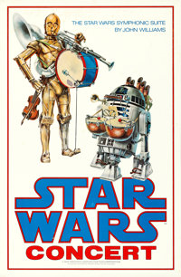 "Star Wars (20th Century Fox, 1978). Rolled, Fine+. Concert Poster (24"" X 37"")"