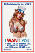 """Movie Posters:Adult, I Want You! (Carroll Pictures, 1970). Folded, Very Fine+. One Sheet (23"""" X 35""""). Adult.. ..."""