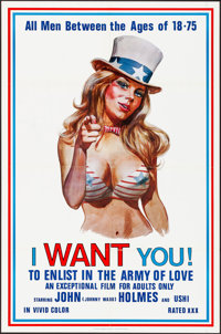 """I Want You! (Carroll Pictures, 1970). Folded, Very Fine+. One Sheet (23"""" X 35""""). Adult"""