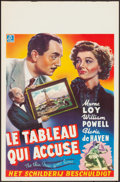 """Movie Posters:Mystery, The Thin Man Goes Home (MGM, 1945). Rolled, Very Fine. Belgian (14"""" X 21.75""""). Mystery.. ..."""