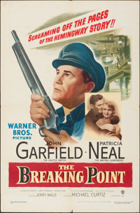 """The Breaking Point (Warner Bros., 1950). Folded, Fine/Very Fine. One Sheet (27"""" X 41""""). Crime"""