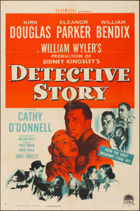 "Detective Story (Paramount, 1951). Folded, Fine/Very Fine. One Sheet (27"" X 41""). Crime"