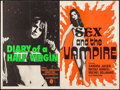 """Movie Posters:Foreign, Eva: Diary of a Half Virgin/Sex and the Vampire Combo (EFC, R-1972). Folded, Fine/Very Fine. British Quad (30"""" X 40""""). Forei..."""
