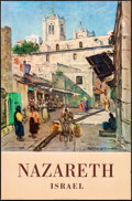 """Movie Posters:Miscellaneous, Nazareth, Israel (Israel Government Tourist Corporation, c.1958). Rolled, Very Fine-. Israeli Travel Posters (2) (22"""" X 33"""" ... (Total: 2 Items)"""