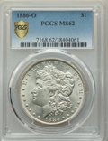 Morgan Dollars, 1886-O $1 MS62 PCGS. PCGS Population: (845/925 and 12/54+). NGC Census: (556/401 and 12/9+). CDN: $1,350 Whsle. Bid for pro...