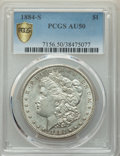 Morgan Dollars, 1884-S $1 AU50 PCGS. PCGS Population: (1455/5551 and 0/63+). NGC Census: (1028/5646 and 0/39+). CDN: $155 Whsle. Bid for pr...