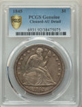 1845 $1 -- Cleaned -- PCGS Genuine. AU Details. NGC Census: (12/110 and 0/0+). PCGS Population: (51/107 and 0/1+). CDN:...