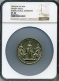 Washingtonia, 1876 International Exhibition, Danish Medal, MS61 NGC. Baker-426B, Musante GW-932. White metal, 53mm, plain edge....