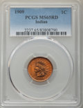 Indian Cents, 1909 1C MS65 Red PCGS. PCGS Population: (677/228). NGC Census: (273/43). MS65. Mintage 14,370,645. ...
