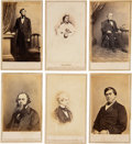 Photography:CDVs, Abraham Lincoln: Cartes-de-Visite [CDVs] of The Great Emancipator, wife Mary and Cabinet Members.. ...