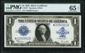 Large Size:Silver Certificates, Fr. 237* $1 1923 Silver Certificate Star PMG Gem Uncirculated 65 EPQ.. ...