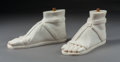 Carvings, A Pair of Carved Carrara Marble Feet Inspired by the Roman Colossus of Constantine. 7-1/2 x 15-1/2 x 6 inches (19.1 x 39.4 x... (Total: 2 )