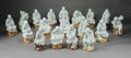 Ceramics & Porcelain, A Set of Eighteen Chinese Porcelain Luohan Figures. 17 x 9 x 8 inches (43.2 x 22.9 x 20.3 cm) (largest). ... (Total: 18 )