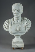 Carvings, A Carved Carrara Marble Bust of Julius Caesar . 22 x 14 x 8 inches (55.9 x 35.6 x 20.3 cm). ...