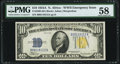 Fr. 2309 $10 1934A North Africa Silver Certificate. PMG Choice About Unc 58