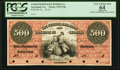 Obsoletes By State:Georgia, Savannah, GA - Central Rail Road & Banking Company of Georgia $500 18__ G78a Proof PCGS Apparent Very Choice New 64.. ...