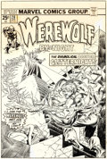 Original Comic Art:Covers, Gil Kane and Frank Giacoia Werewolf by Night #28 Cover Original Art (Marvel, 1975)....
