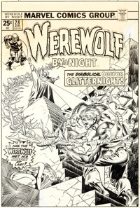 Gil Kane and Frank Giacoia Werewolf by Night #28 Cover Original Art (Marvel, 1975)