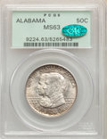 1921 50C Alabama MS63 PCGS. CAC. PCGS Population: (475/1505). NGC Census: (353/1266). CDN: $300 Whsle. Bid for problem-f...