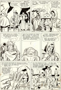 Original Comic Art:Panel Pages, Jack Kirby and Chic Stone Fantastic Four Annual #2 Story Page 11 Doctor Doom's Origin Original Art (Marvel, 1964)....