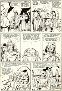 Jack Kirby and Chic Stone Fantastic Four Annual #2 Story Page 11 Doctor Doom's Origin Original Art (Marvel, 1964)