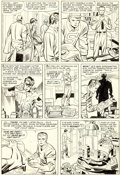 Original Comic Art:Panel Pages, Jack Kirby and Chic Stone Fantastic Four Annual #2 Story Page 9 Doctor Doom Original Art (Marvel, 1964)....
