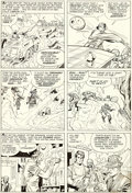 Original Comic Art:Panel Pages, Jack Kirby and Chic Stone Fantastic Four Annual #2 Story Page 7 Doctor Doom Original Art (Marvel, 1964)....