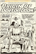 Original Comic Art:Panel Pages, Jack Kirby and Chic Stone Fantastic Four Annual #2 Splash Page 1 Doctor Doom Original Art (Marvel, 1964)....