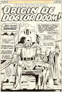 Jack Kirby and Chic Stone Fantastic Four Annual #2 Splash Page 1 Doctor Doom Original Art (Marvel, 1964)