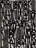 Paintings, RETNA (b. 1979). Songs of Illumination Scripts, 2017. Acrylic on canvas. 80 x 60 inches (203.2 x 152.4 cm). Signed, date...