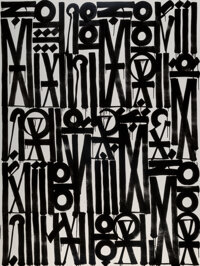 RETNA (b. 1979) Songs of Illumination Scripts, 2017 Acrylic on canvas 80 x 60 inches (203.2 x 152