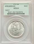 1937 50C Arkansas MS64 PCGS. PCGS Population: (496/455). NGC Census: (366/298). CDN: $110 Whsle. Bid for problem-free NG...
