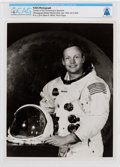 Explorers:Space Exploration, Neil Armstrong Original NASA White Spacesuit Photograph Directly From The Armstrong Family Collection™, CAG Certified. ...