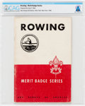 "Explorers:Space Exploration, Boy Scouts: Neil Armstrong's 1945 ""Rowing"" Merit Badge Series Book Directly from The Armstrong Family Collection™, CAG..."