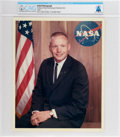Explorers:Space Exploration, Neil Armstrong: Original NASA Color Photo, the 1962 Business Suit Pose, Directly From The Armstrong Family Collection™, CAG Ce...