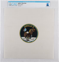 Apollo 11: Unflown Beta Cloth Mission Insignia Directly From The Armstrong Family Collection™, CAG Certified