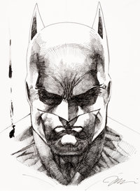 Jim Lee Batman Signed Speciality Illustration Original Art (undated)