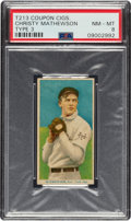 Baseball Cards:Singles (Pre-1930), 1919 T213 Coupon Cigarettes (Type 3) Christy Mathewson PSA NM-MT 8 - Pop Two, None Higher. ...