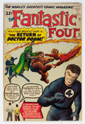 Silver Age (1956-1969):Superhero, Fantastic Four #10 (Marvel, 1963) Condition: VG....