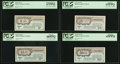 Military Payment Certificates:Series 461, Series 461 5¢ PCGS Superb Gem New 67PPQ;. Series 461 10¢ PCGS Gem New 66PPQ;. Series 461 25¢ PCGS Gem New 65PPQ;. ... (Total: 4 notes)