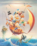 Carl Barks Sailing the Spanish Main Signed Limited Edition Lithograph Print #179/245 (Another Rainbow, 1982)