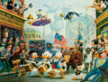 Memorabilia:Poster, Carl Barks July Fourth in Duckburg Signed Limited Edition Lithograph Print #299/350 (Another Rainbow, 1998)....