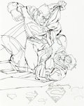 Original Comic Art:Miscellaneous, Bill Sienkiewicz Trinity #8 Cover Preliminary Art Superman (DC Comics, 2017)....