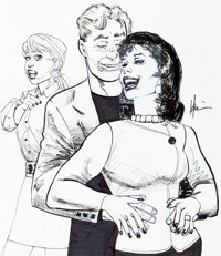 Howard Chaykin Archie: the Married Life - 10th Anniversary Variant Cover Original Art (Archie Comics, 2019)