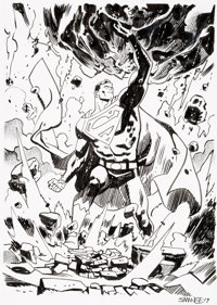 Chris Samnee - Superman Specialty Illustration Original Art (2019)
