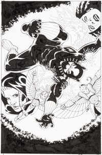 John Cassaday Black Panther #5 Variant Cover Original Art (Marvel, 2016)