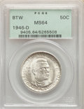 1946-D 50C Booker T. Washington MS64 PCGS. PCGS Population: (971/1584). NGC Census: (583/1085). CDN: $22 Whsle. Bid for...